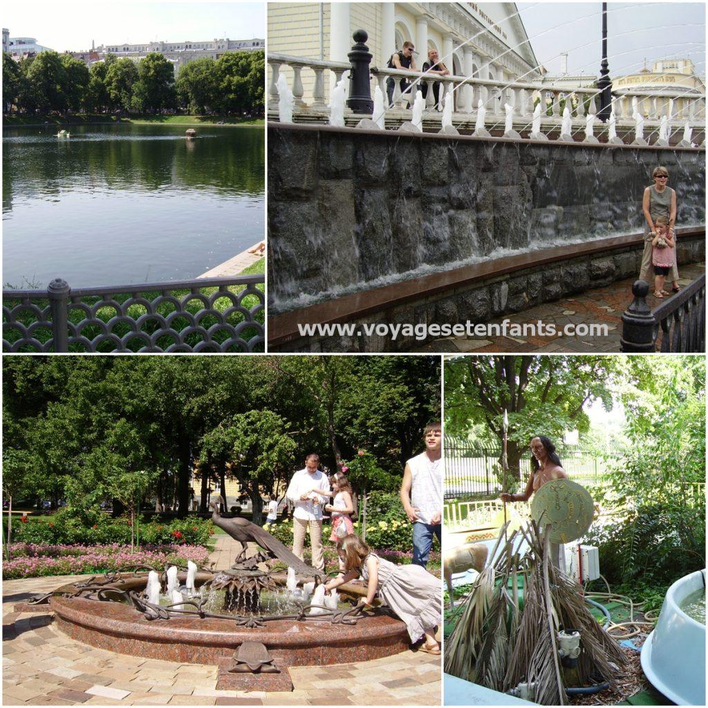 Moscou avec des enfants en famille parcs et jardins