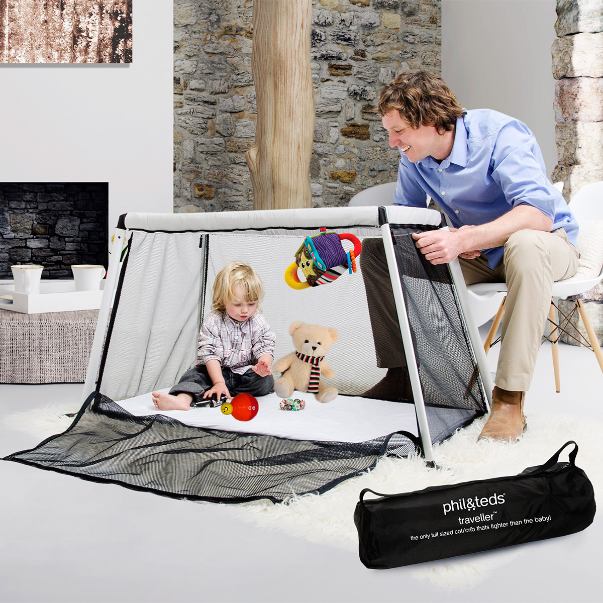 lit voyage bb compact traveler phil and teds - Lit Nomade Bebe